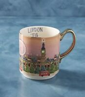 Anthropologie Christmas  in the City London Mug SOLD OUT~NIB