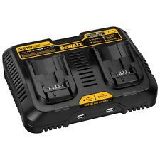 NEW DeWalt 12V & 20V Max Lithium-ion DCB102 Dual-Port Battery-Charger & USB Port