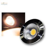 LED-Einbaustrahler warmweiß 7W COB, Aluminium-poliert, 230V Spot Einbauleuchte