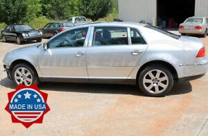2002-2008 Volkswagen VW Phaeton 6Pc Chrome Pillar Post Trim Stainless Steel Door