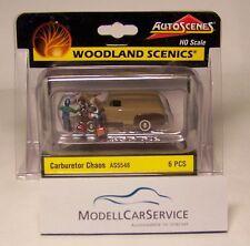 "Woodland Scenics 1/87: AS5548 ""Vergaser-Probleme"" / ""Carburetor Chaos"" m. 3. Fig"