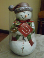 New in package Tracy Porter Ceramic Snowman Cookie Jar