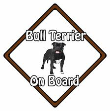 Non Personalised Dog On Board Car Safety Sign - Bull Terrier On Board