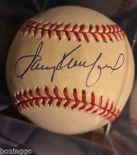 SANDY KOUFAX SIGNED OFFICIAL NATIONAL LEAGUE BALL BEAUTIFULLY SIGNED IN BLUE ..