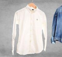 Ralph Lauren White Oxford Shirt Long Sleeve 100% cotton