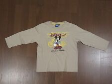 Disney, Micky Maus, Langarmshirt, beige, Gr. 116, sehr guter Zustand!!