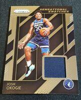2018-19 Panini Prizm Josh Okogie Sensational Swatches Jersey Rookie RC Patch