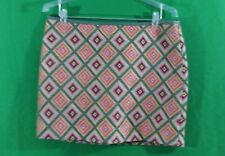 Fossil multi color 100%cotton above knee A-line skirt size L