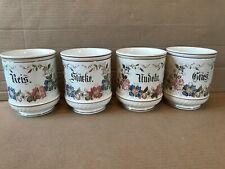 4 große runde Keramik Vorratsgefäße Vorratsbehälter mit Blumendekor *