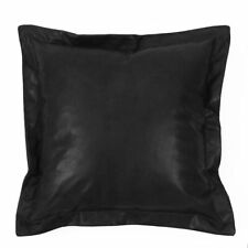 Throw Pillow Covers Cushion Case 100% Genuine Soft Lambskin Leather Home Decor