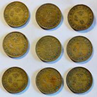 Hong Kong - 9 x 10 Cents - 1949-1975 - King George - Elizabeth II -