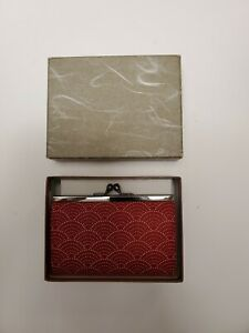 INDEN-YA Coin Purse Red 1401 Made in Japan