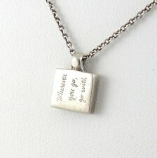"""Jeanine Payer Sterling Silver Confucius """"Wherever You Go"""" Pendant Necklace QXD37"""