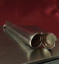 Antique Hallmarked Chester 1903 Edwardian Sterling Silver Cheroot Holder Case.