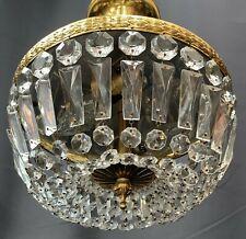 Vintage antique style crystal ceiling light