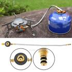 Stove Burner Furnace Connector Gas Tank Head Adapter Valve for Outdoor Camping