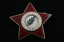 Hungary Hungarian Medal for the Socialist Culture Red Star Communist Badge