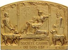 M843 Plaque Société Canine Chiens Dogs Sud Est Blin Exposition Dijon 1925 1er Pr