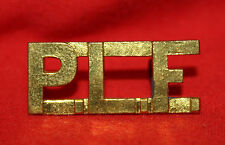 "PRINCESS LOUISE FUSILIERS Shoulder Title Badge ""P.L.F."""