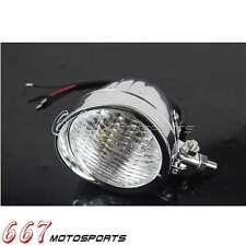 Chrome Motorcycle Visor Bullet Headlight Lamp For Harley Davidson Bobber Chopper
