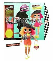 "1 LOL Surprise NEONLICIOUS OMG 10"" Fashion Doll Series 1 Neon QT NEW In Hand"