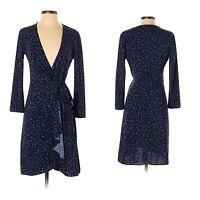 BCBG Max Azria Womens Adele Animal Print Wrap Tie Dress Size SP