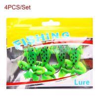 4PCS 5.2g/6cm Rubber Frog Spinner Sinking Soft Fishing Lures Bass Bait