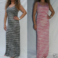 New in Ladies Next Column Grey Black-Pink Cream Vest Top Maxi Summer Beach Dress