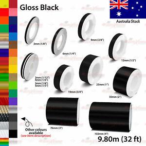 2mm-100mm PIN STRIPE Car Model Bike Truck Line TAPE Vinyl Stickers GLOSS BLACK