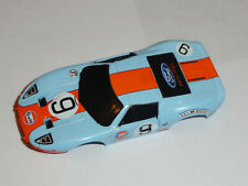 AUTO WORLD AFX GULF FORD GT MEGA G HO SLOT CAR SET CAR BODY ONLY MINT CONDITION