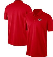 KANSAS CITY CHIEFS Polo Shirt RED Super Comfortable Embroidered Patch Style