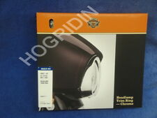 Harley touring softail visor headlight head lamp light trim beauty ring 69627-99