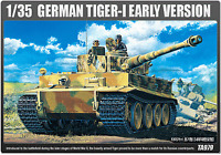 NEW ACADEMY GERMAN TIGER-1 EARLY VERSION 1/35 MODEL KIT ARMY ARMOUR VEHICLES