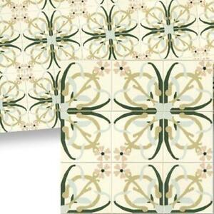 Dollhouse Mosaic Floor Tile Sheet 34119 Beige Green World Model Miniatures