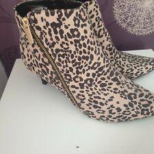 Botas al tobillo de leopardo/tamaño del zapato 6