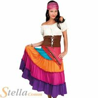Ladies Deluxe Romany Gypsy Fortune Teller Fancy Dress Costume Womens Outfit