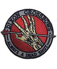 The Walking Dead Patch Dixon Crossbows Always a Dead Shot Iron on Badge Tactical