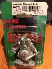 Lardgulp 2 Headed Troll  2657  Reaper Miniatures  Dark Heaven Legends  Metal NIP