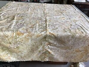 Vintage Sanderson Time Was - Gold,Green , Lilac Cotton Fabric- Faded 116x134cm
