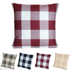 Linen Blend Checked Decorative Cushions & Pillows