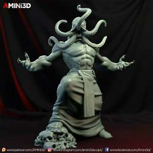 Mind Flayer - Illithid_01 Fantasy Miniature Warhammer D&D Tabletop Game Amini3D