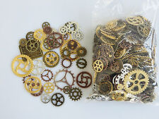 50 Mixed Silver Bronze Gold Copper Steampunk Cogs and Gears Clock Hand Charms
