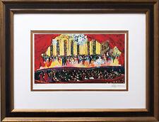 "LeRoy Neiman ""La Traviata"" CUSTOM FRAMED ART NEW Italian Opera symphony"