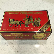 YS-46 1880 MERRYWEATHER STEAM FIRE ENGINE GREENWICH MATCHBOX LIMITED Edition
