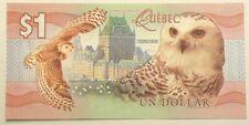 2016 Territoires du Quebec Dollar $1 Jacques Cartier Owl Au/Unc #549