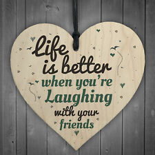 Laughing With Friends Sign Best Friend Plaque Gift Heart Birthday Thank You Gift