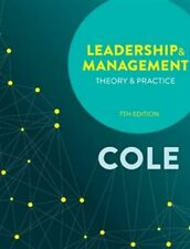 NEW Leadership and Management 7ed By Kris Cole Book with Other Items