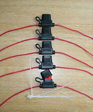 5x In Line Fuse Holders INC 10Amp Fuse