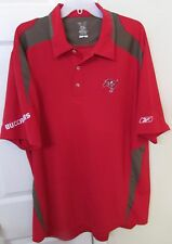 NFL Tampa Bay Buccaneers Golf Polo Shirt by Reebok XL EUC Red/Gray