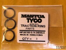 TYCO E-7A DIESELTRACTION RING SET, 3 TIRES NEW FOR E-7 DIESEL MADE IN HONG KONG